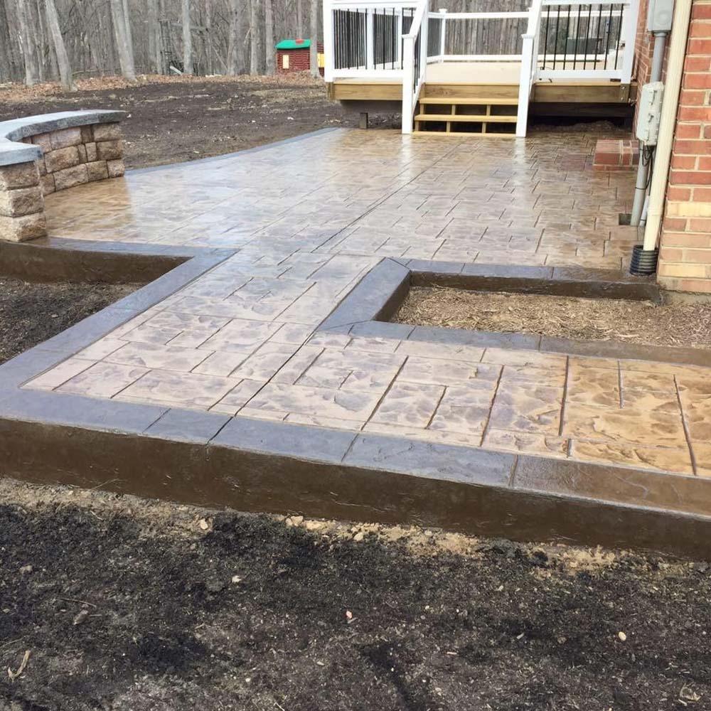 Patio Installation Richmond Va: Stamped Concrete Installation